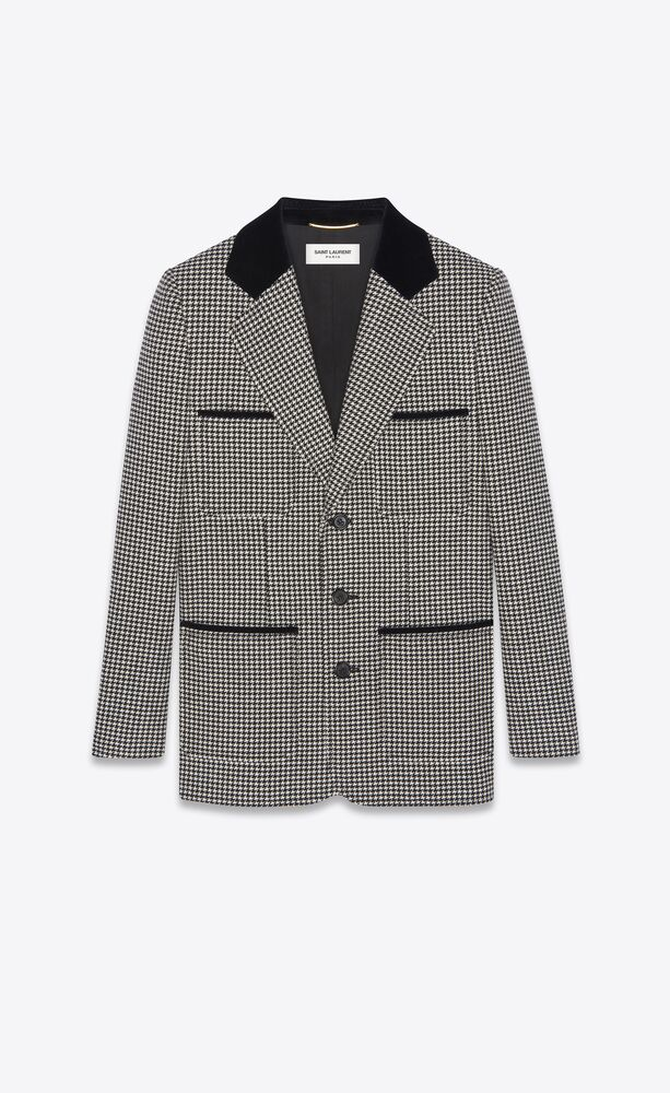Picture of Saint Laurent | Single-Breasted Jacket