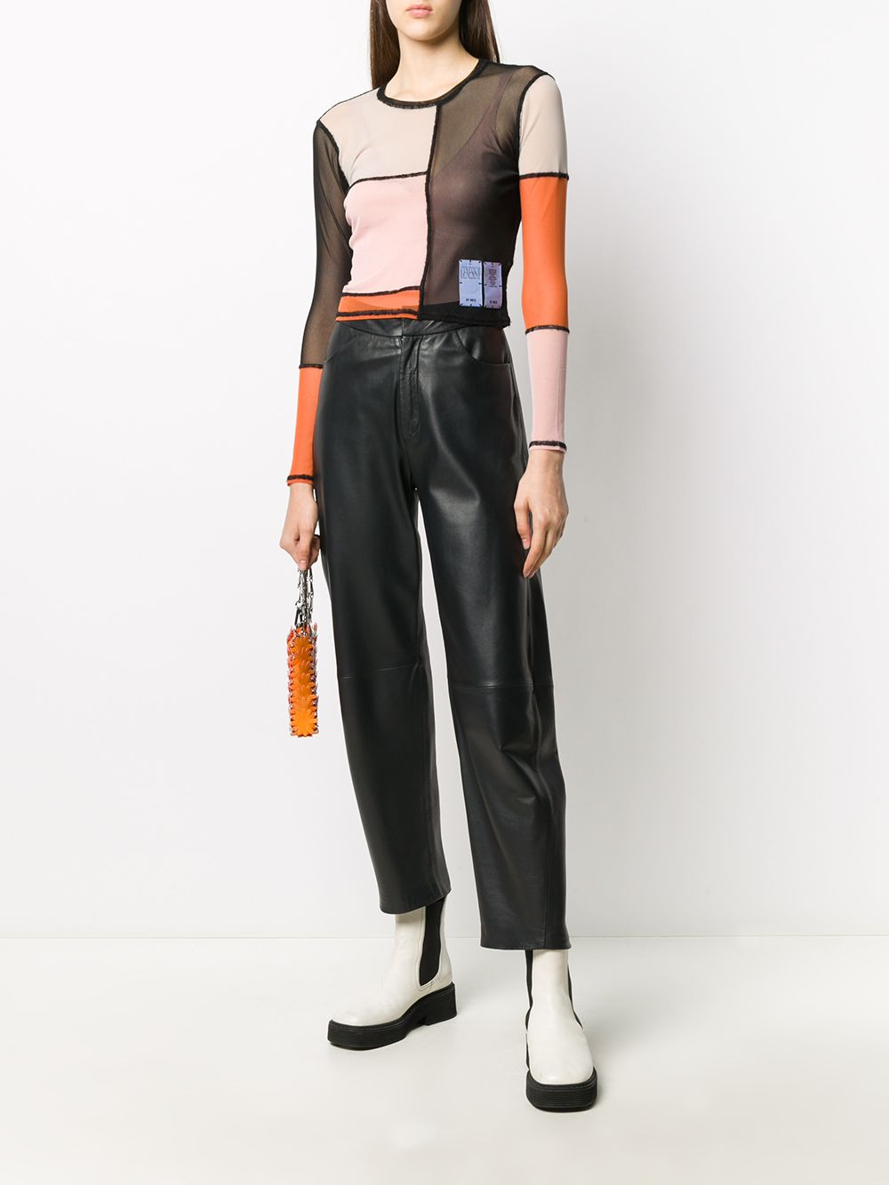 Picture of Mcq | Colour-Block Long-Sleeved Top