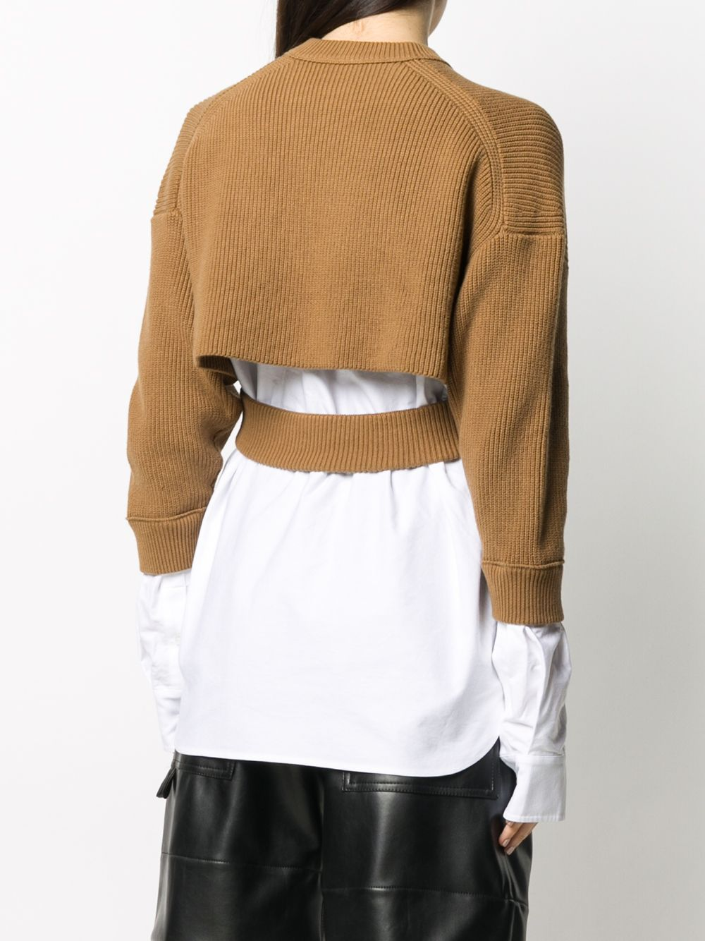 Picture of Alexander Wang | Bi-Layered Shirting Cardigan