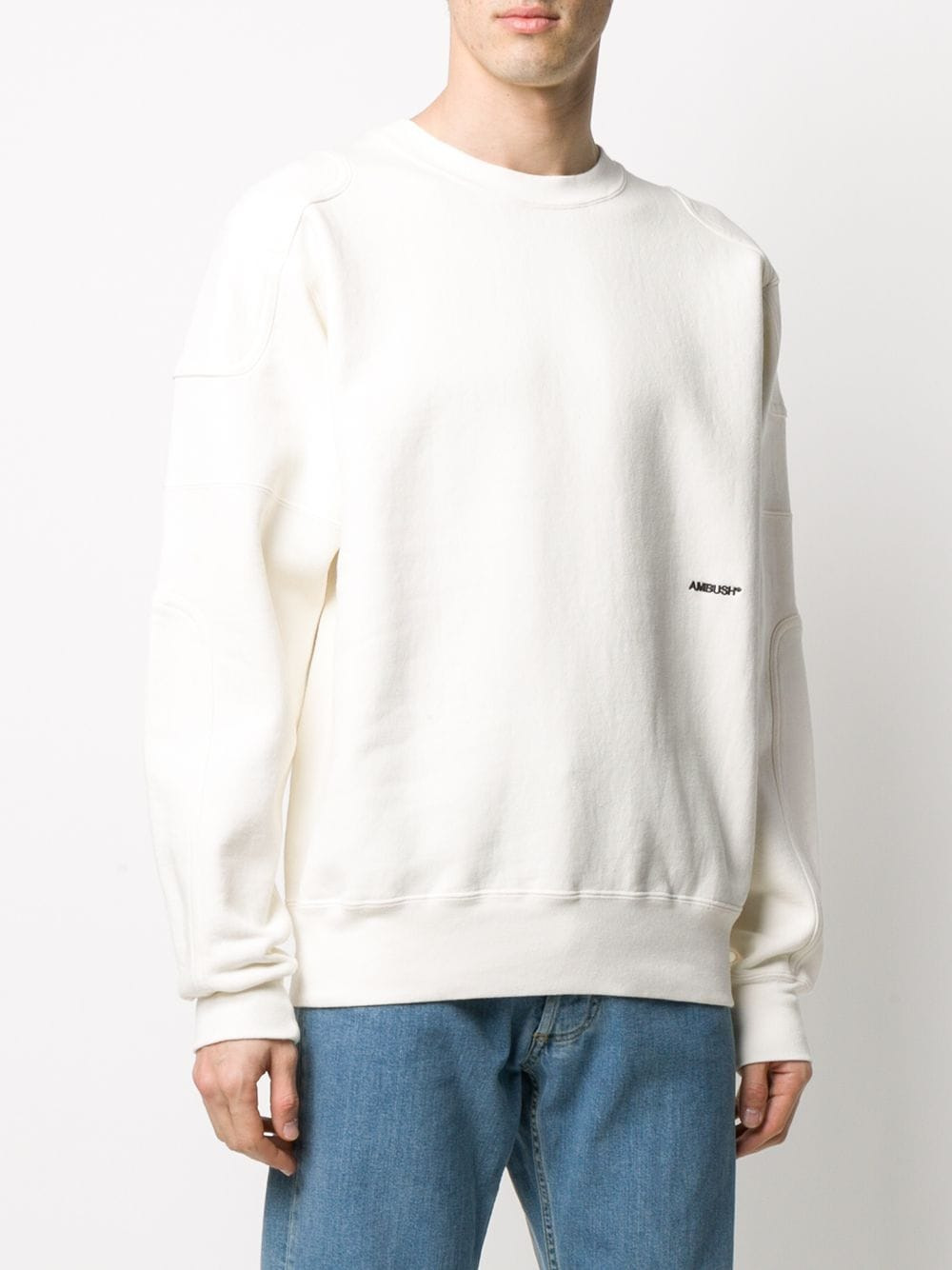 Picture of Ambush | Panelled Embroidered-Logo Sweatshirt