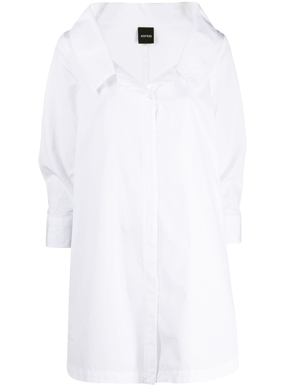 Picture of Aspesi | Wide-Neck Cotton Shirt