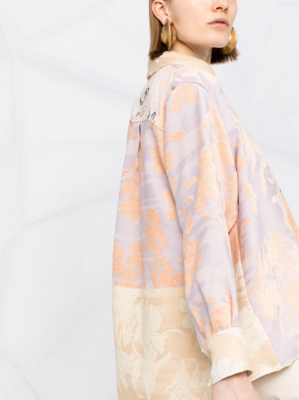 Picture of Forte_Forte | Bloom Jacquard Over Shirt