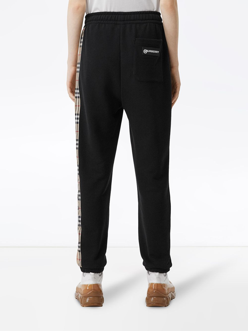 Picture of Burberry | Check Panelled Track Pants