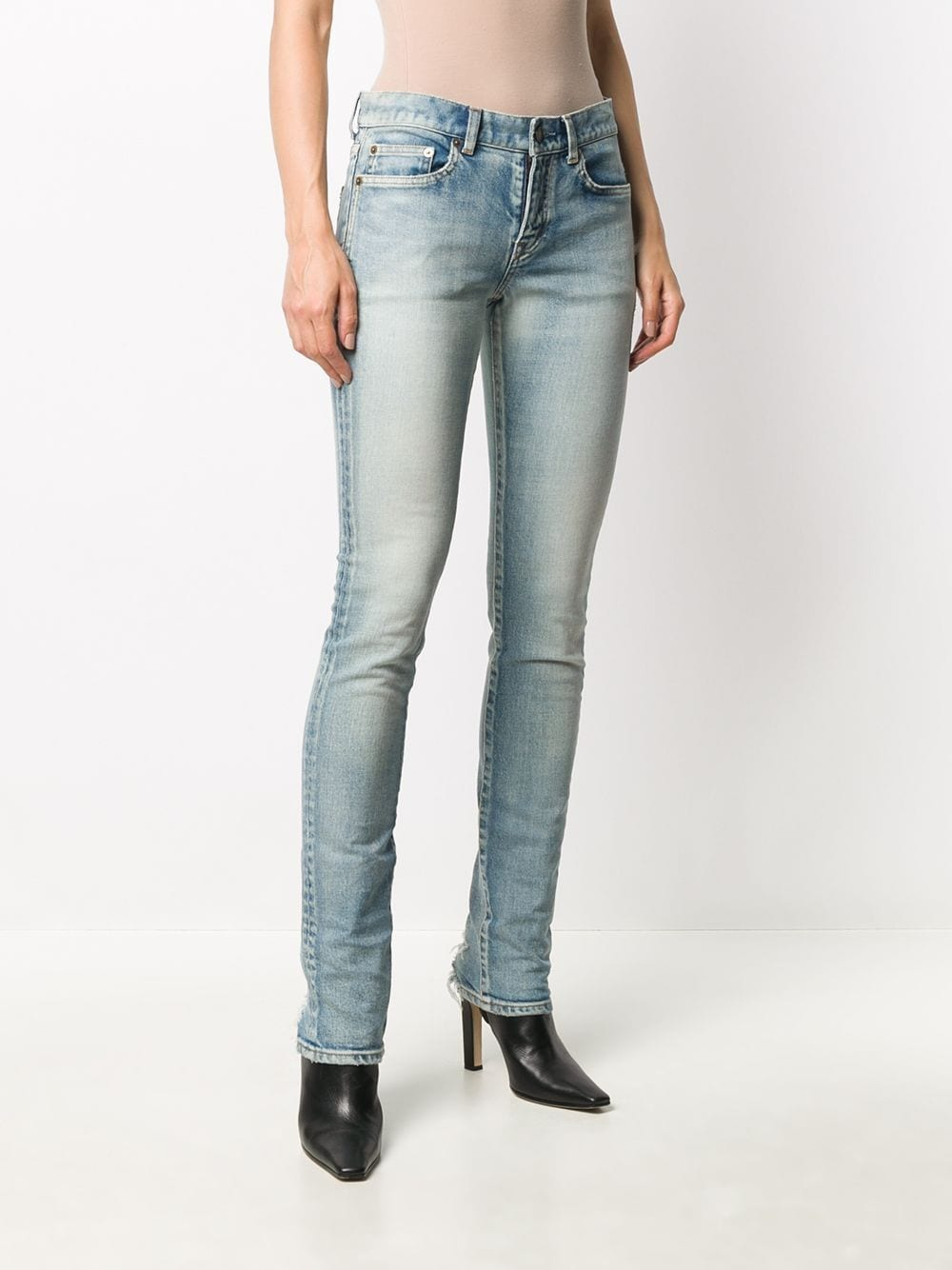 Picture of Saint Laurent | Low-Rise Skinny Jeans
