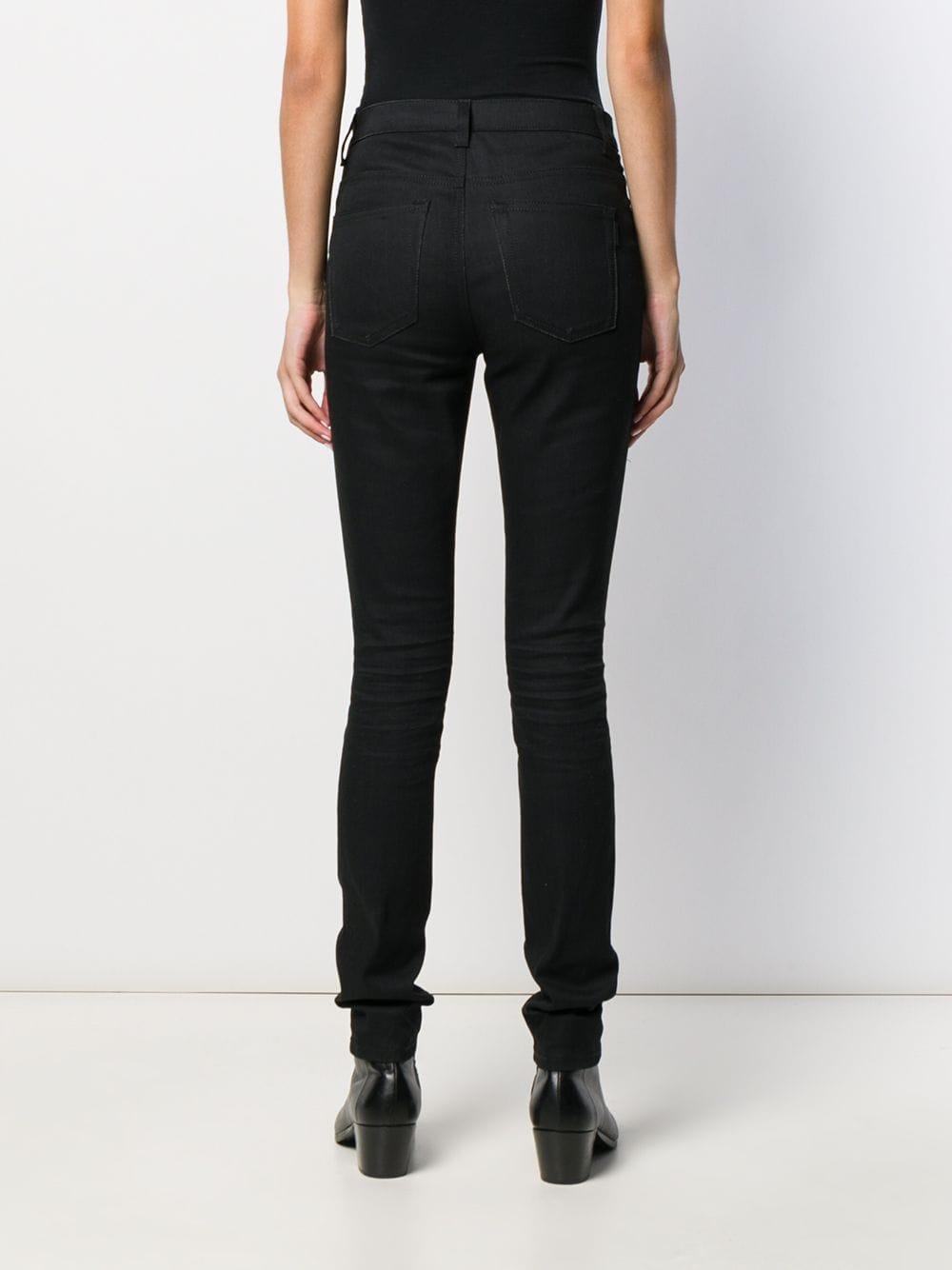 Picture of Saint Laurent | Mid-Rise Skinny Jeans