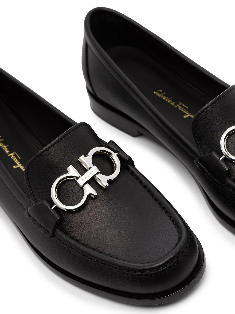 Picture of Ferragamo   Gancini Plaque Low-Heel Loafers