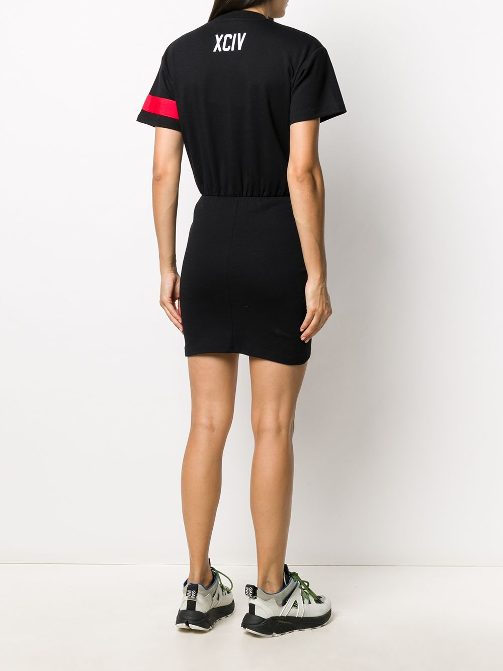 Picture of Gcds   Ruched Logo T-Shirt Dress