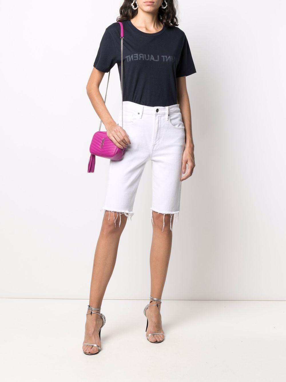 Picture of Saint Laurent | Reverse Logo-Print T-Shirt