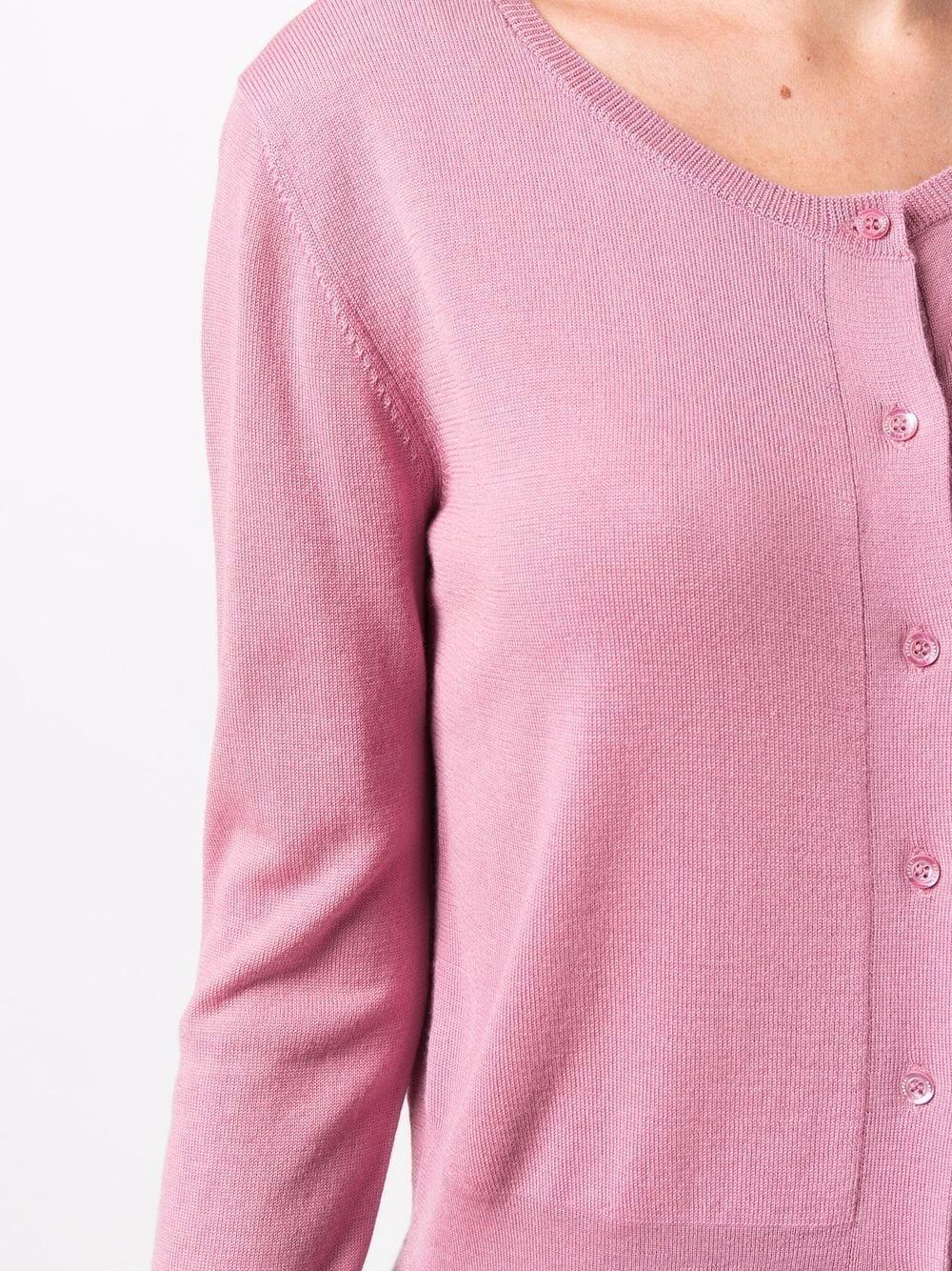 Picture of Aspesi   Round-Neck Wool Cardigan