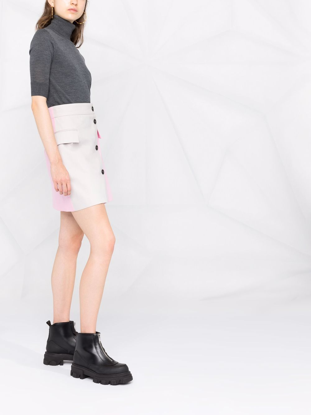Picture of Aspesi   Fine Knit Cropped Sleeves Jumper
