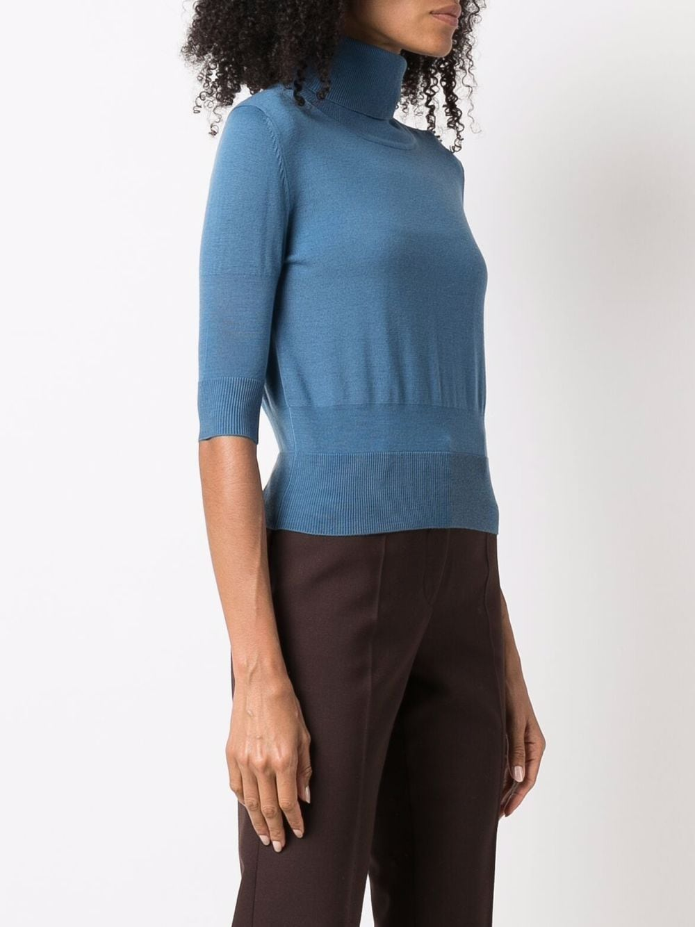 Picture of Aspesi | Fine Knit Cropped Sleeves Jumper
