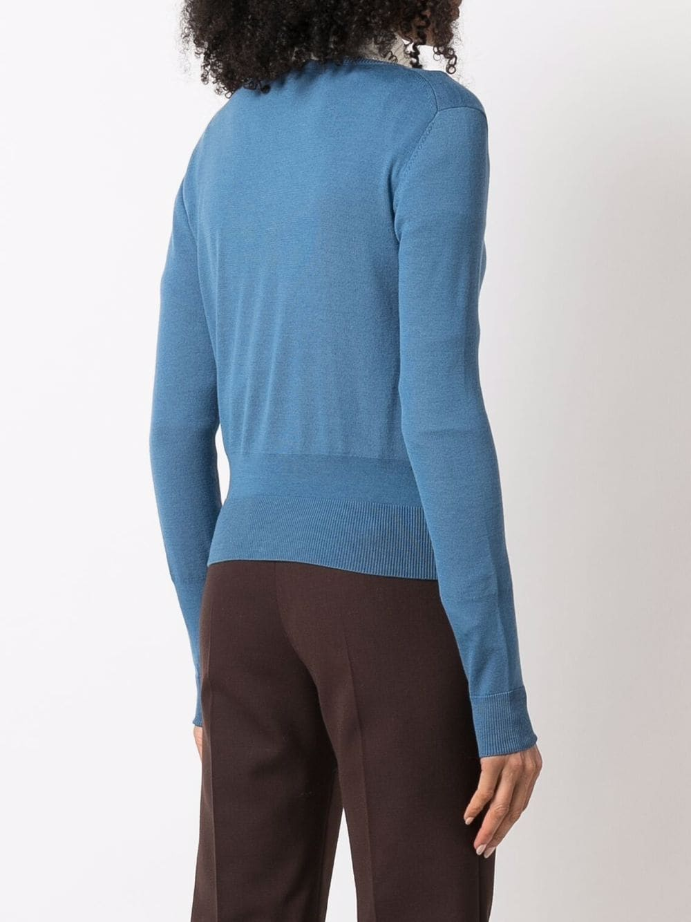Picture of Aspesi | Round-Neck Wool Cardigan
