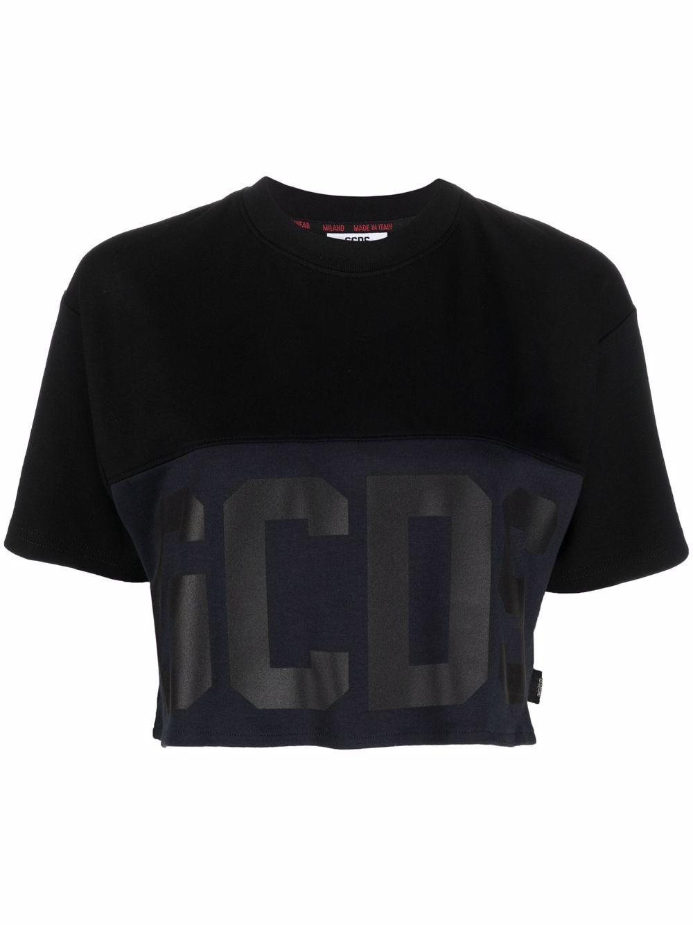 Picture of Gcds   Logo-Print Cotton T-Shirt