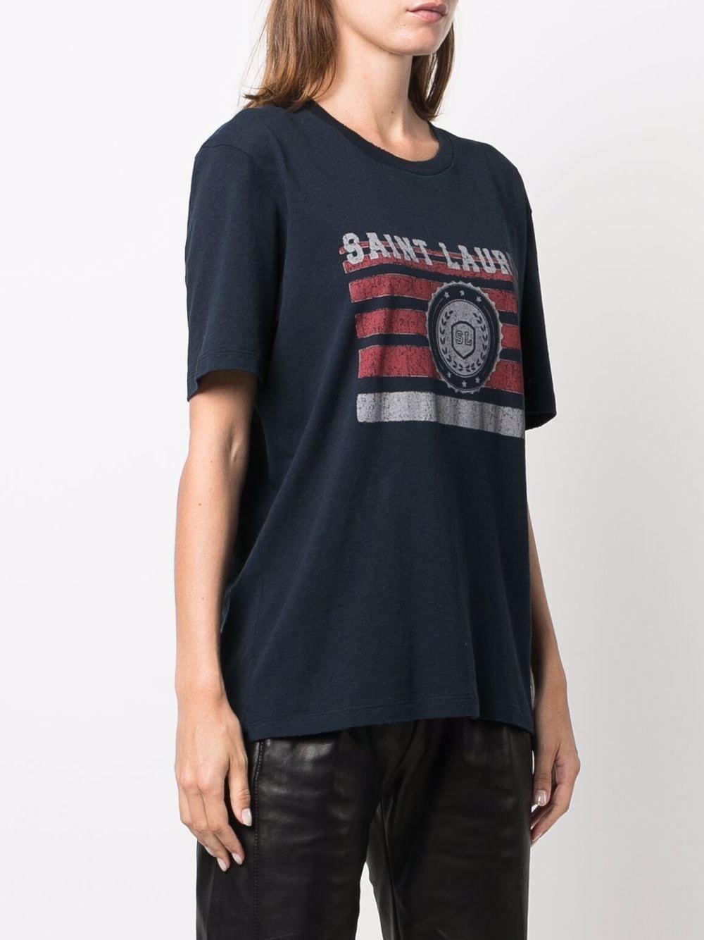 Picture of Saint Laurent | Graphic-Print Short-Sleeve T-Shirt