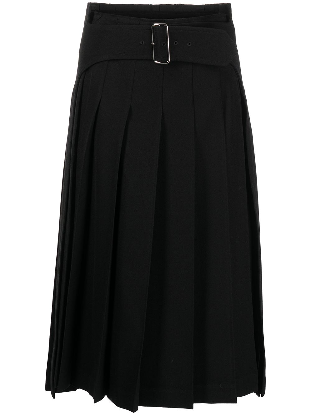 Picture of Comme Comme | Belted Pleated Midi Skirt