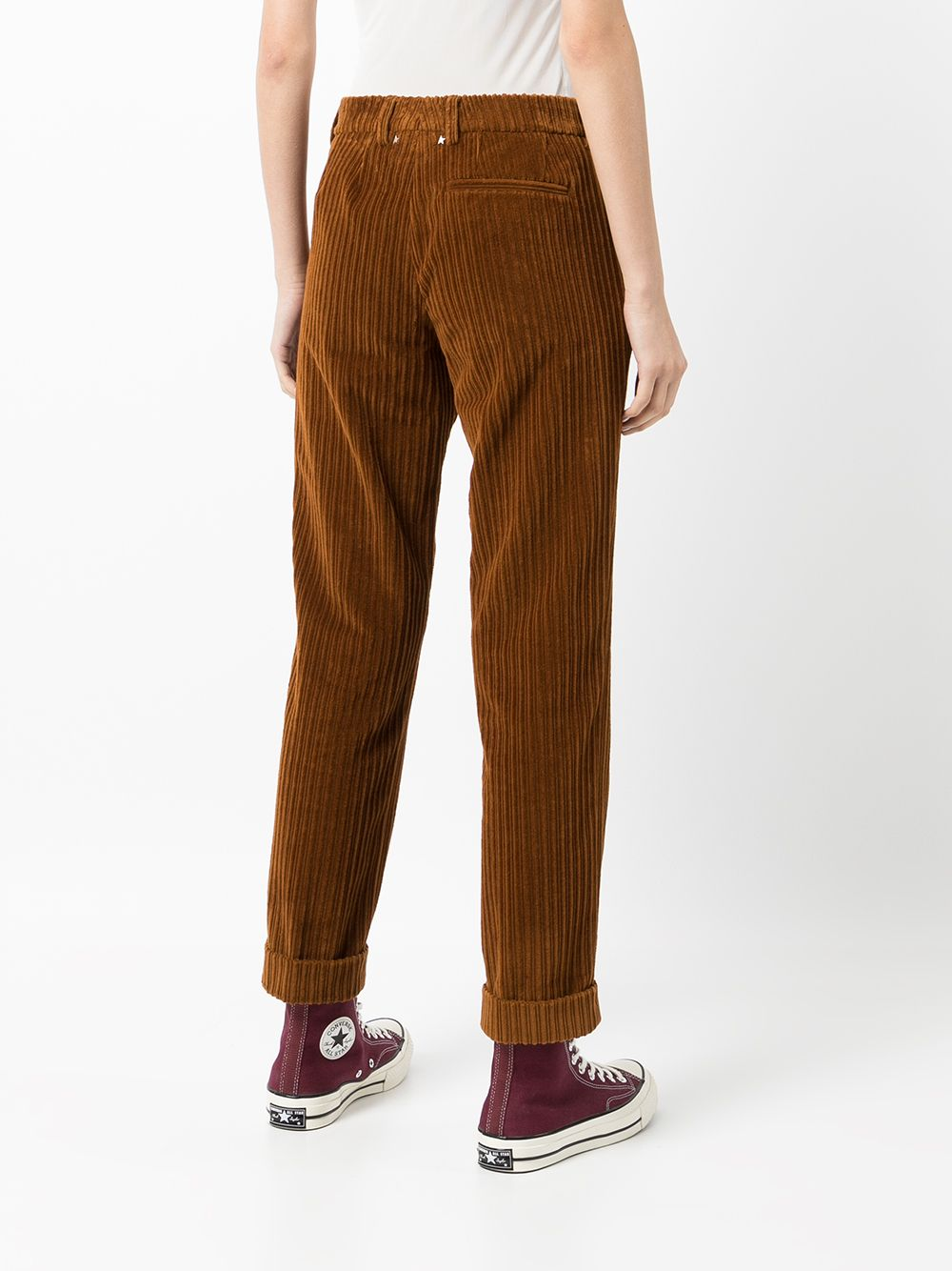 Picture of Golden Goose Deluxe Brand   Corduroy Cigarette-Fit Trousers