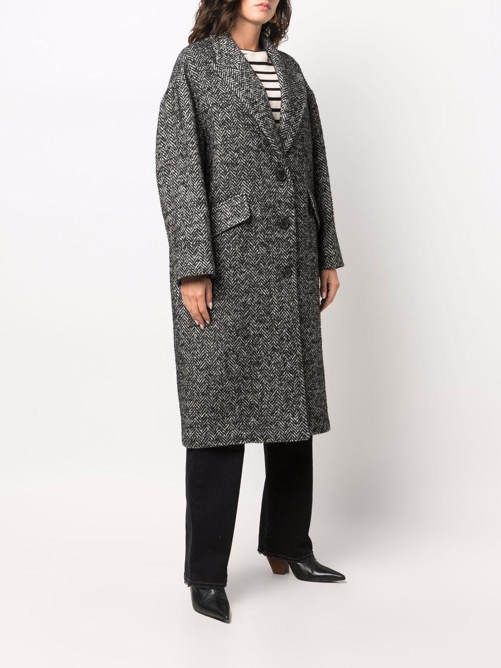 Picture of Palto'   Oversize Herringbone-Textured Coat