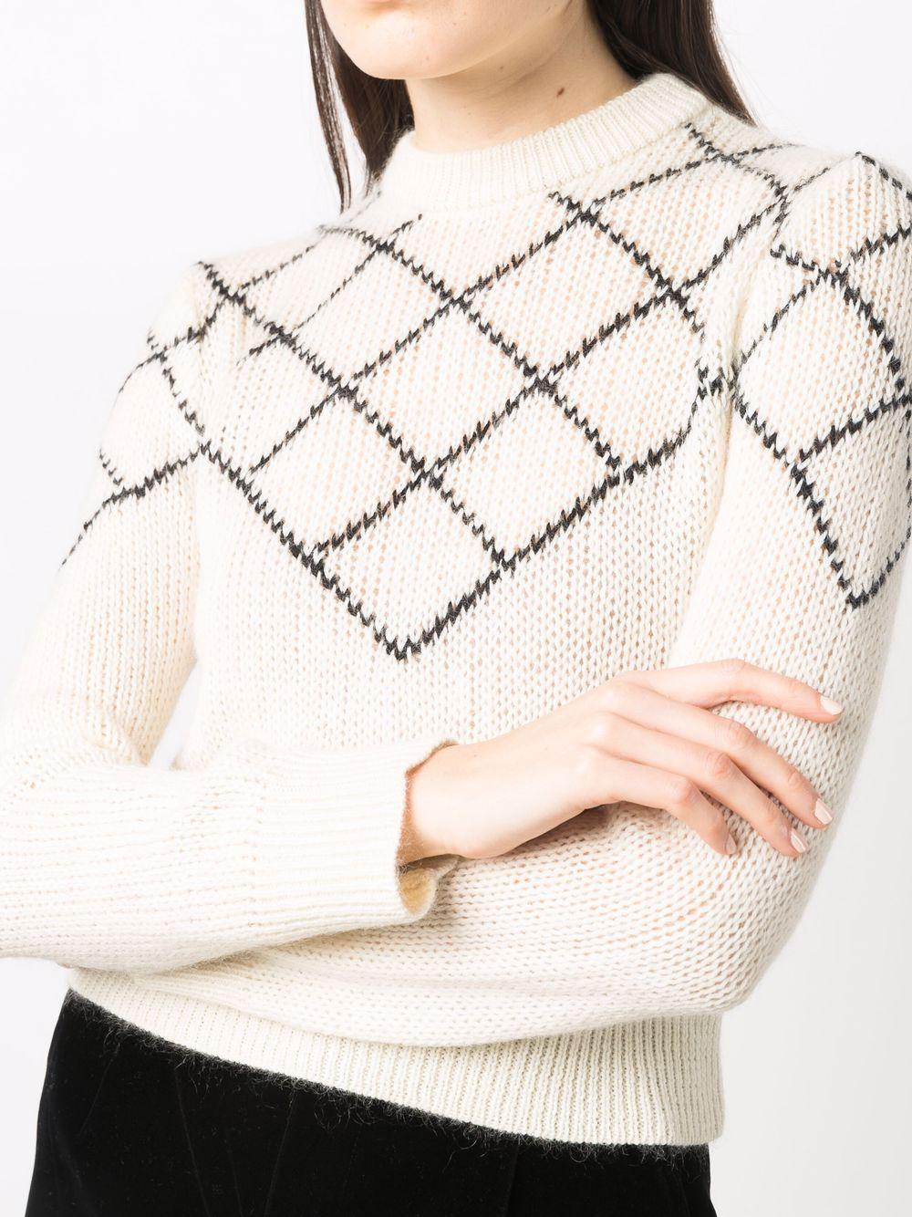 Picture of Saint Laurent   Intarsia-Knit Wool-Blend Jumper