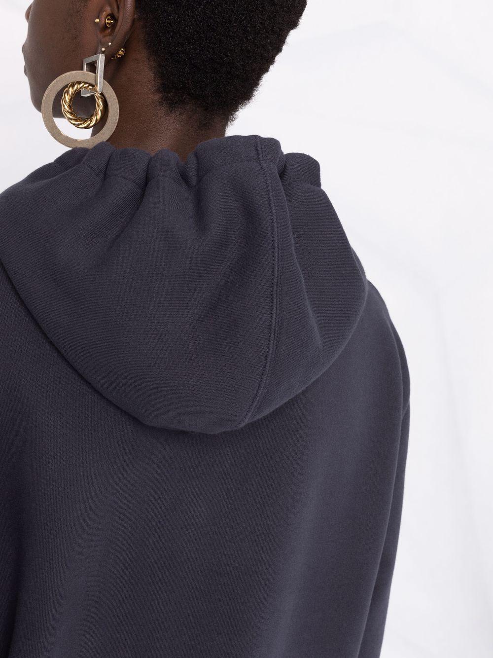 Picture of Saint Laurent | Logo-Print Hoodie