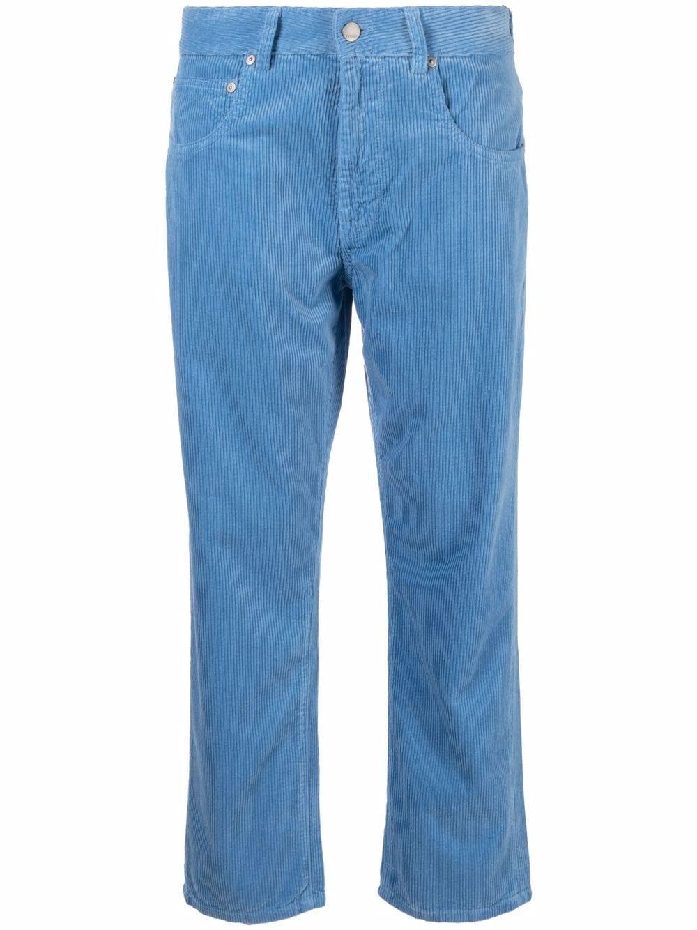 Picture of Aspesi   Corduroy Straight-Leg Trousers