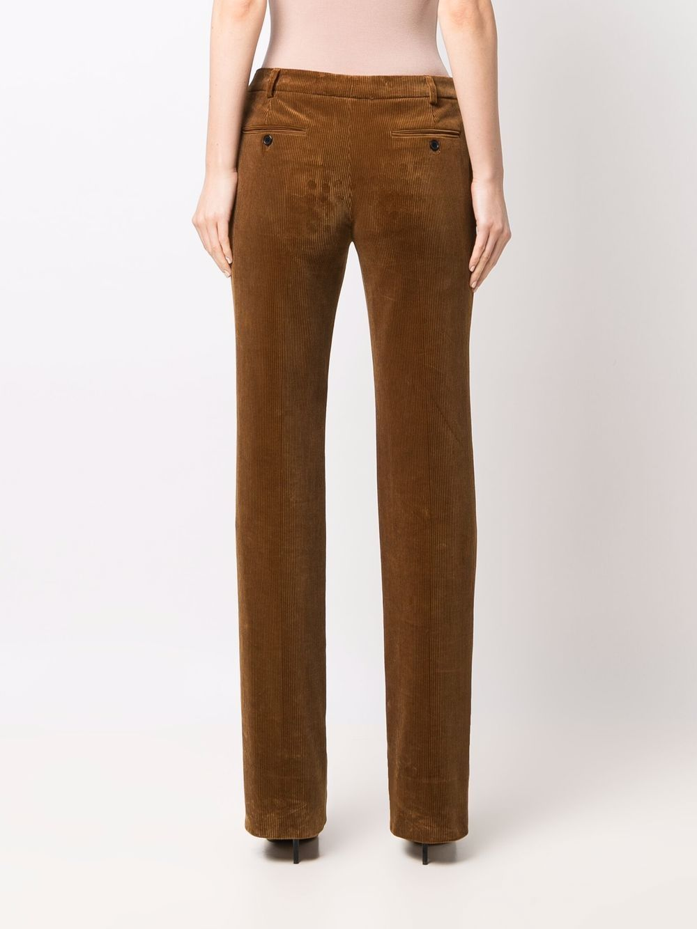 Picture of Saint Laurent | Flared Velvet Pants