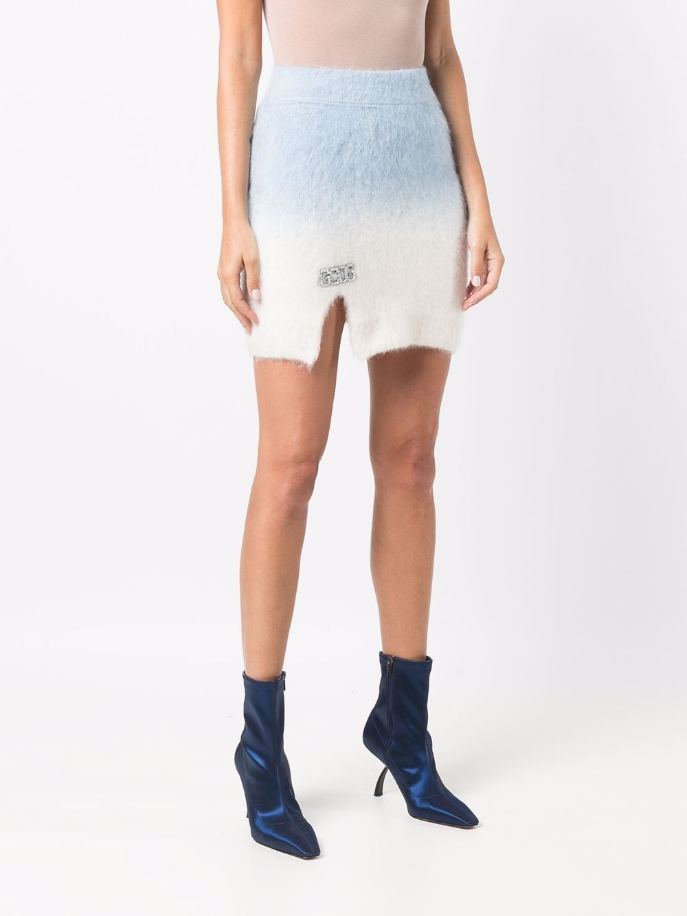 Picture of Gcds   Rhinestone-Logo Knitted Skirt