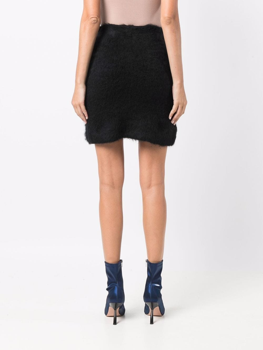 Picture of Gcds | Rhinestone-Logo Knitted Skirt