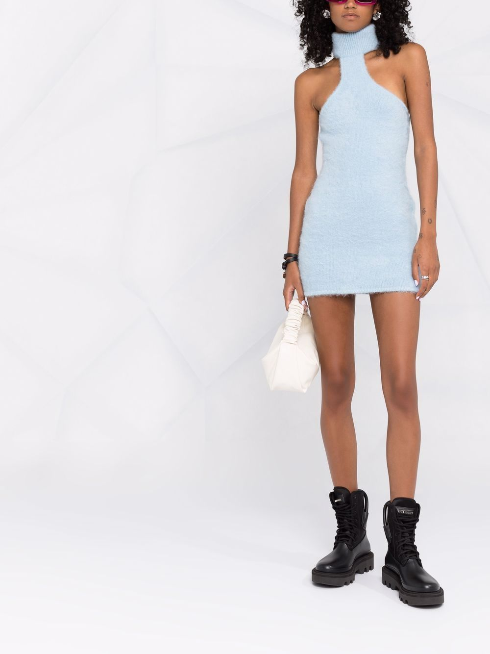 Picture of Gcds   Chain-Embellished Knitted Dress