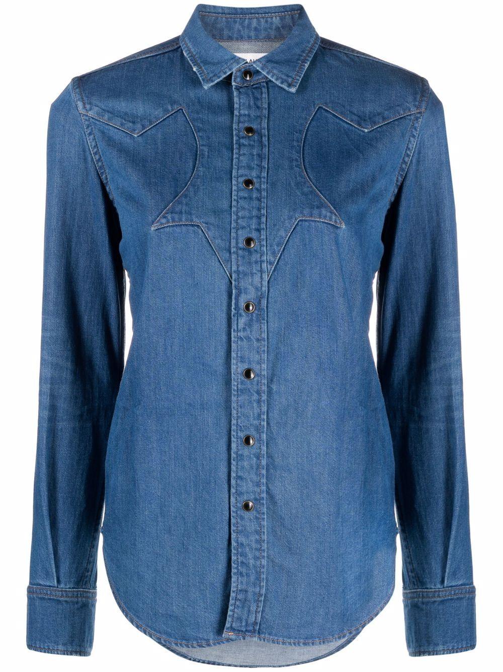 Picture of Saint Laurent | Long-Sleeve Denim Shirt