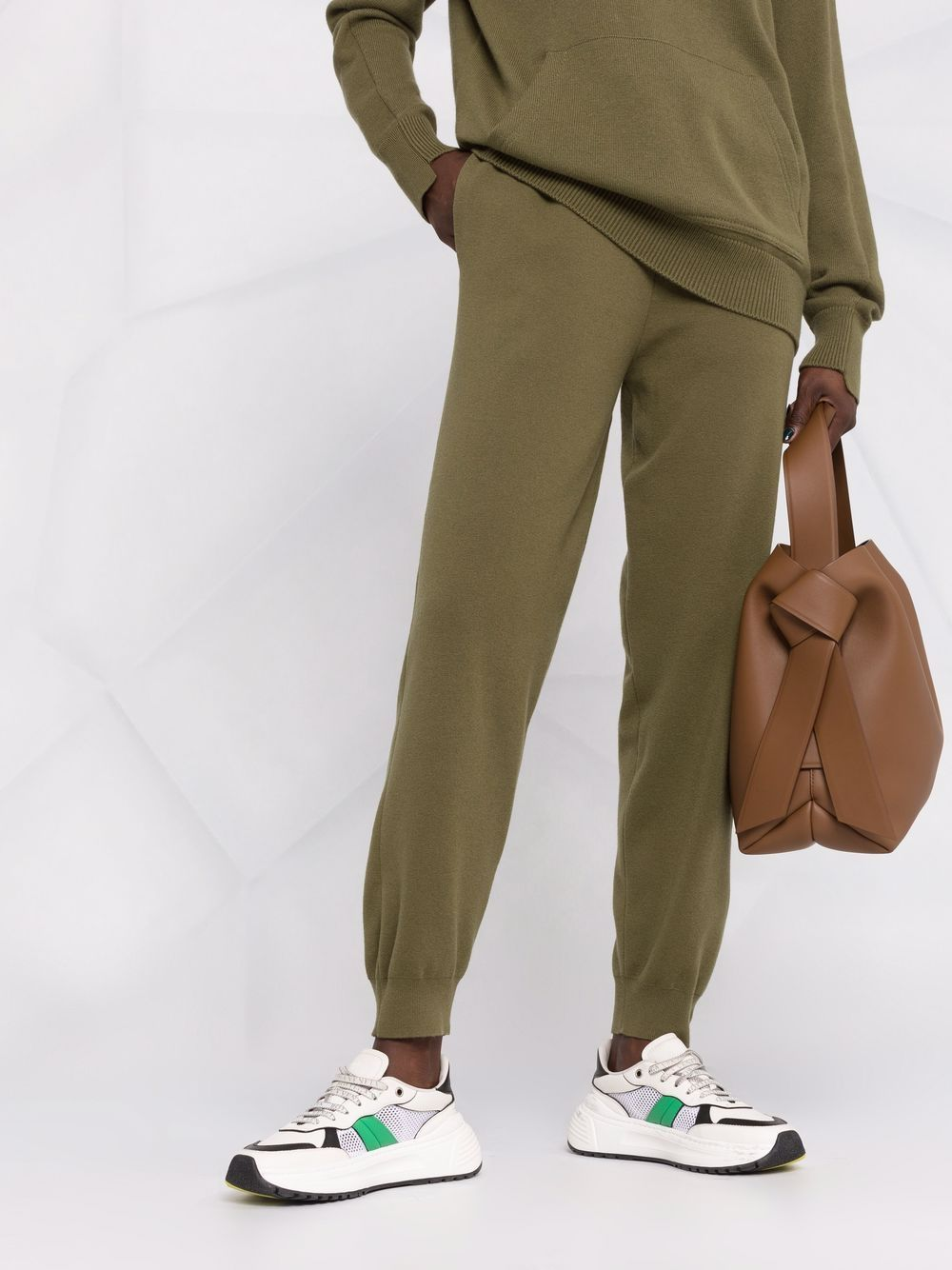 Picture of Burberry | Monogram-Embroidered Track Pants