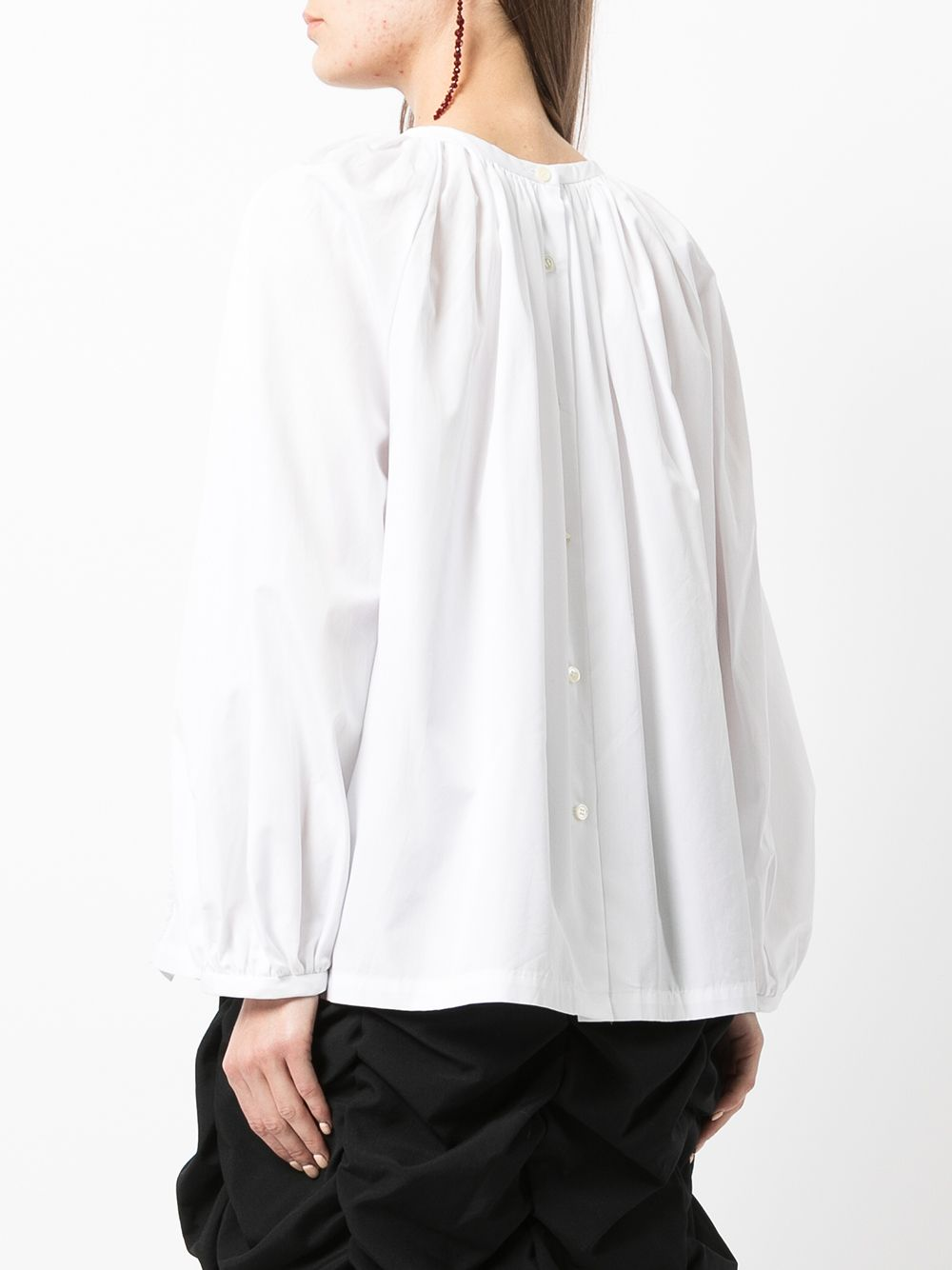 Picture of Comme Comme   Ruched Long-Sleeved Blouse