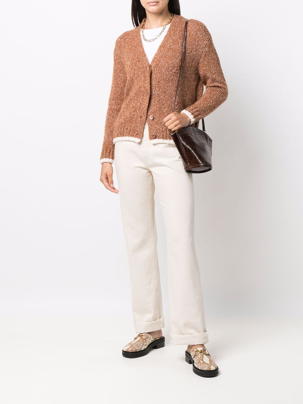 Picture of Aspesi   Button-Down Knit Cardigan