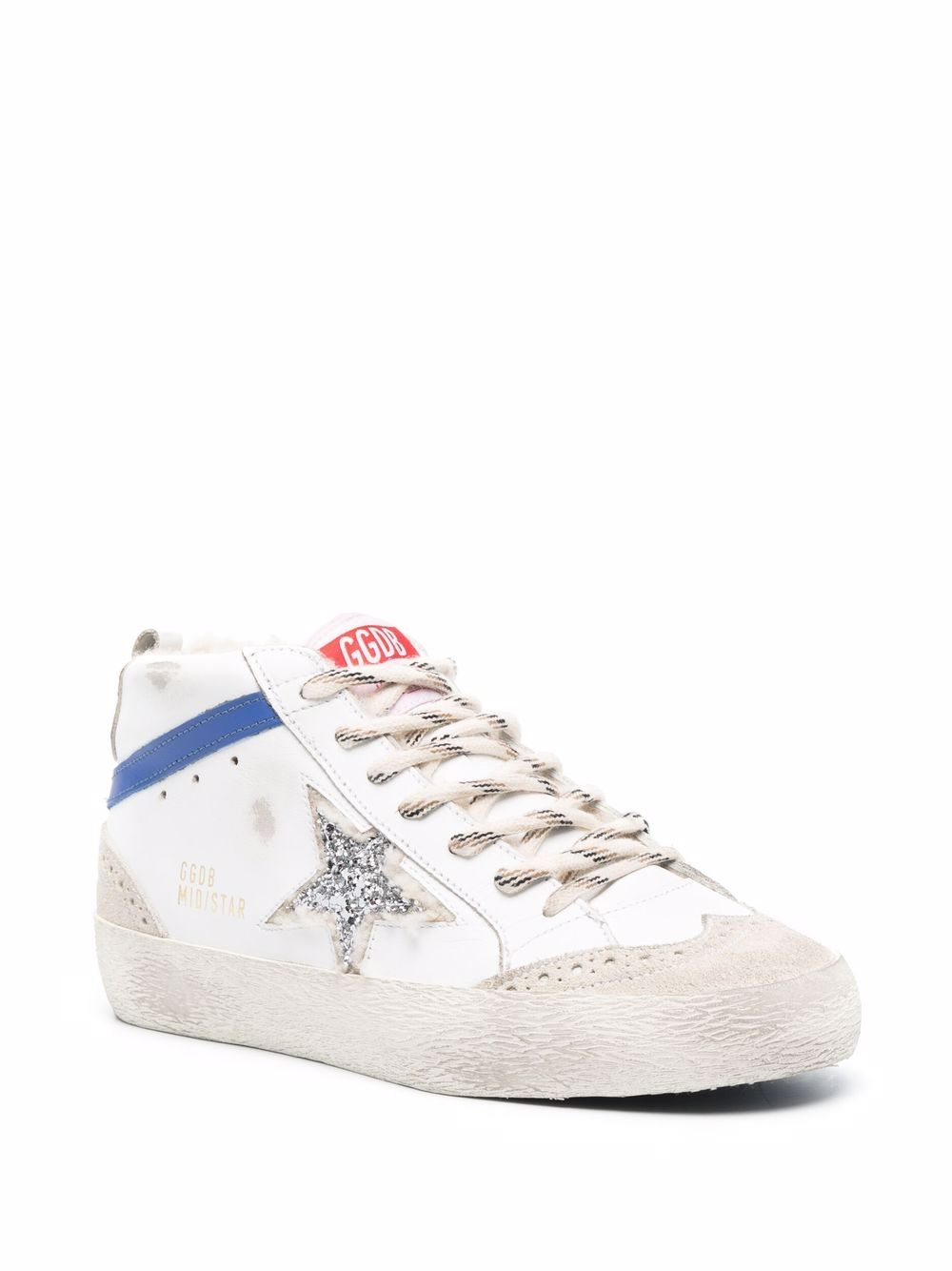 Picture of Golden Goose Deluxe Brand   Mid Star High-Top Sneakers