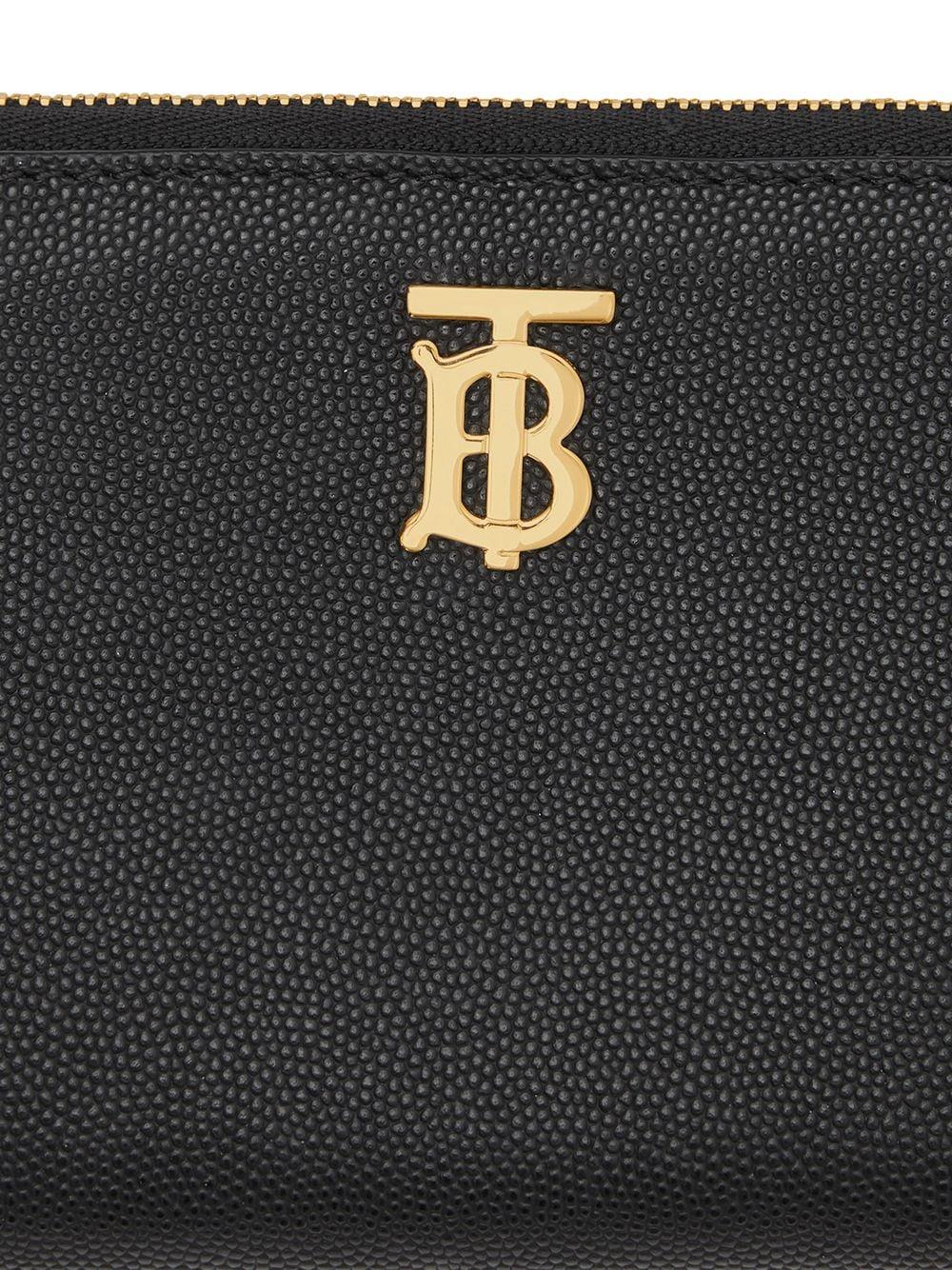 Picture of Burberry | Monogram Plaque Zip-Around Wallet