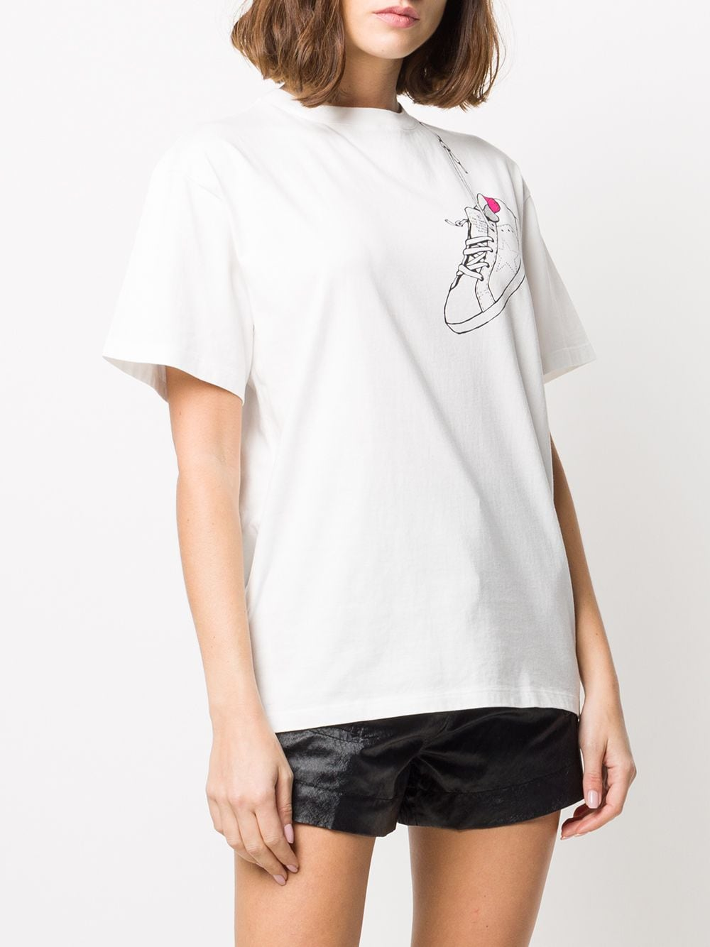 Picture of Golden Goose Deluxe Brand   Cadillac Print T-Shirt