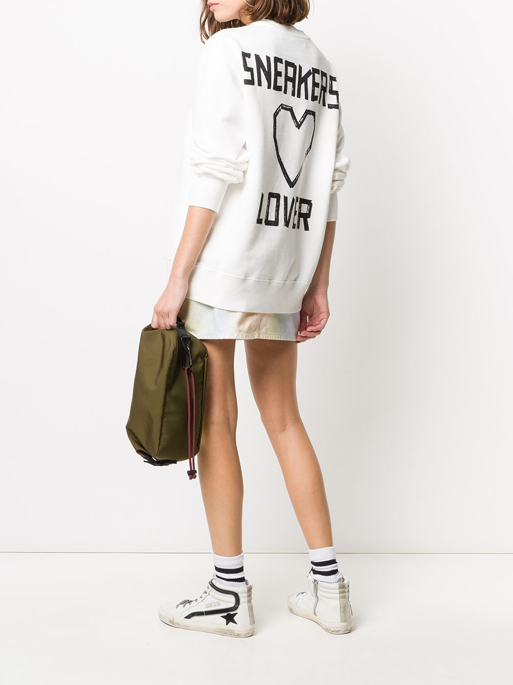 Picture of Golden Goose Deluxe Brand   Logo Print Cotton Sweatshirt