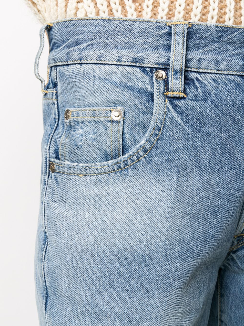 Picture of Golden Goose Deluxe Brand | Acid Wash Bootcut Jeans