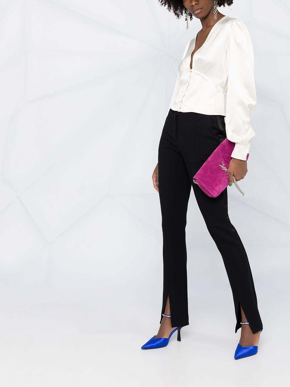 Picture of Saint Laurent   V-Neck Silk Blouse