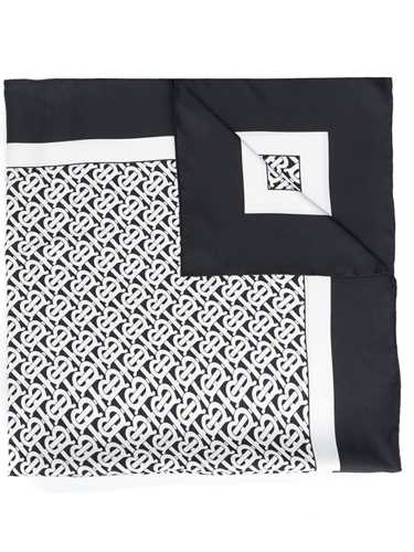 Picture of Burberry | Monochrome Monogram Scarf