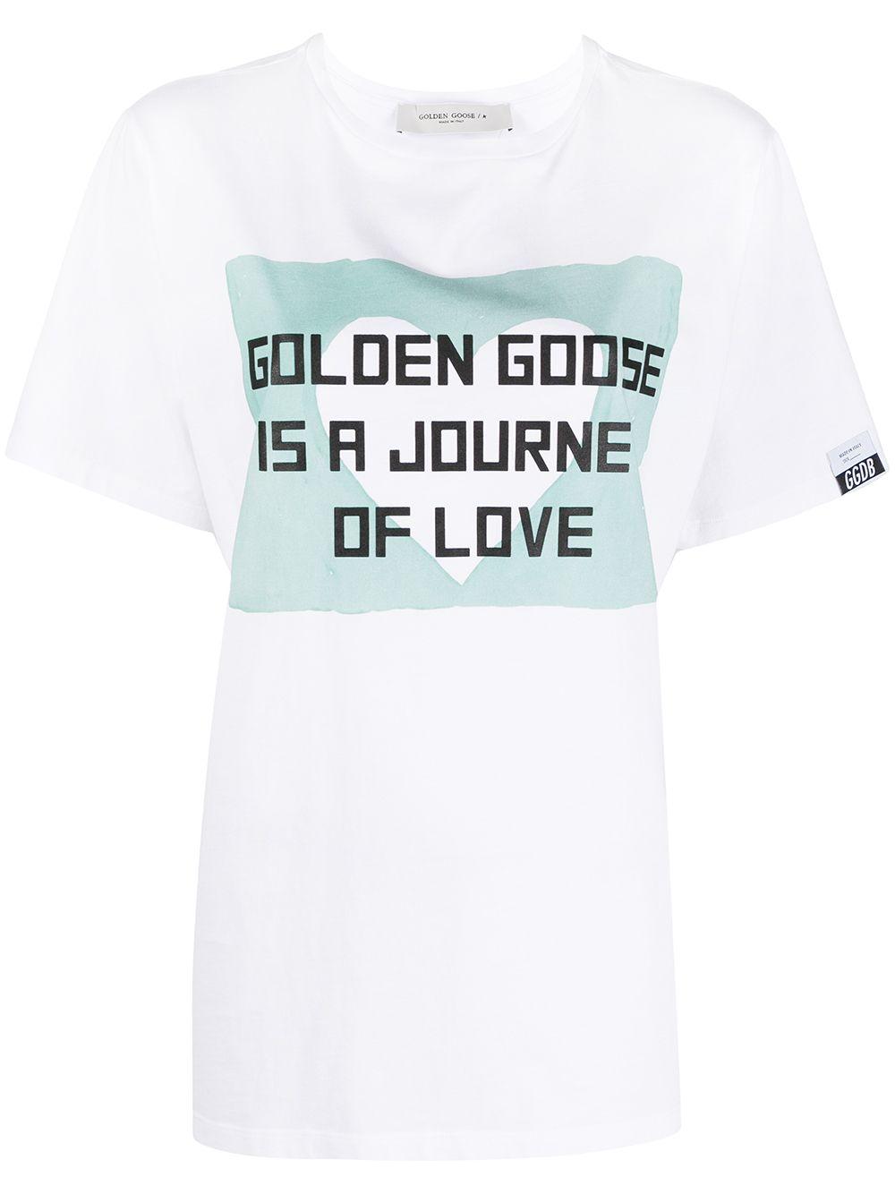 Picture of Golden Goose Deluxe Brand | Slogan-Print T-Shirt