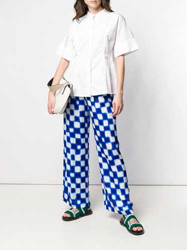 Picture of Dries Van Noten | Geometric Print Trousers