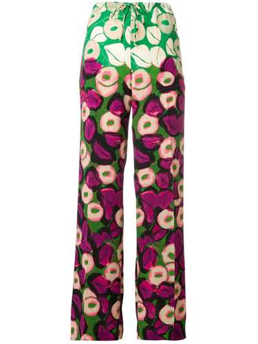 Picture of Dries Van Noten | Wide Leg Floral Trousers