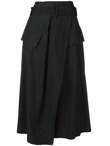 Picture of Vince | Flap Pockets Midi Skirt