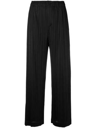 Picture of Issey Miyake Pleats Please | Black Flared Trousers