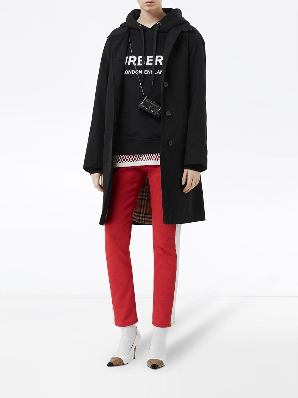 Picture of Burberry | Logo Print Hoodie