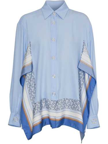 Picture of Burberry   Print-Trim Shirt