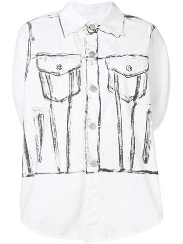 Picture of Mm6 | Painted Sleeveless Shirt