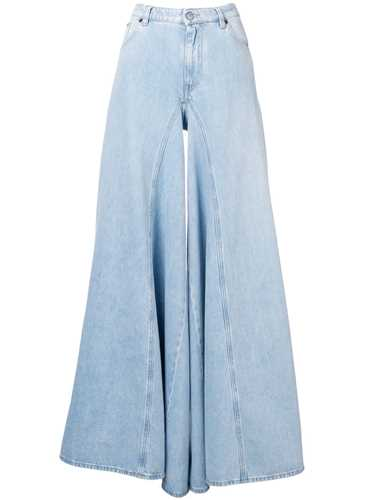 Picture of Mm6 | Bleach Denim Wide Leg Jeans