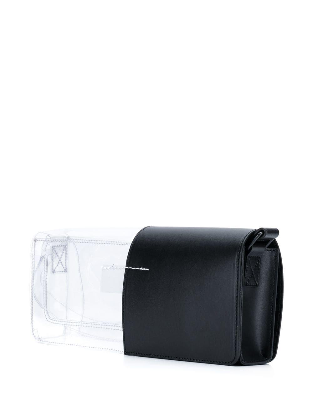 Picture of Mm6 | Contrast Pvc Shoulder Bag