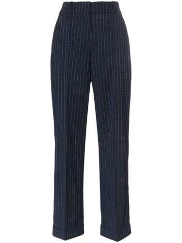 Picture of Racil | Charlie Pinstripe Wool Trousers